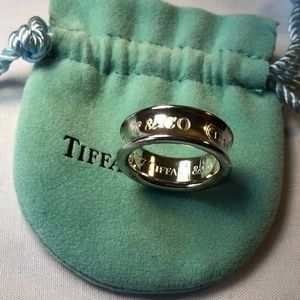 Tiffany & Co. 1837 Sterling Silver 925 Ring 4.5